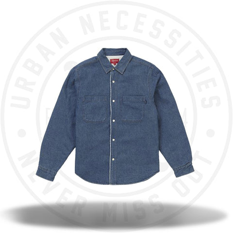 Supreme Sherpa Lined Denim Shirt Blue-Urban Necessities