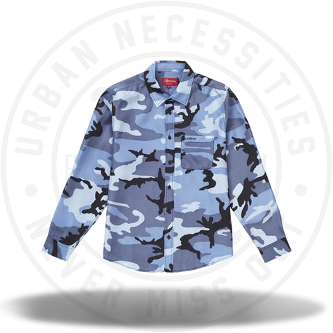 Supreme Silk Camo Shirt Blue Camo-Urban Necessities
