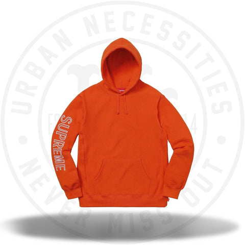 Supreme Sleeve Embroidery Hooded Sweatshirt Dark Orange-Urban Necessities