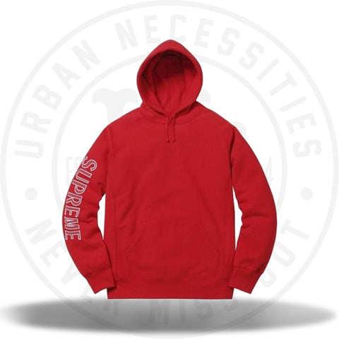 Supreme Sleeve Embroidery Hooded Sweatshirt Red-Urban Necessities