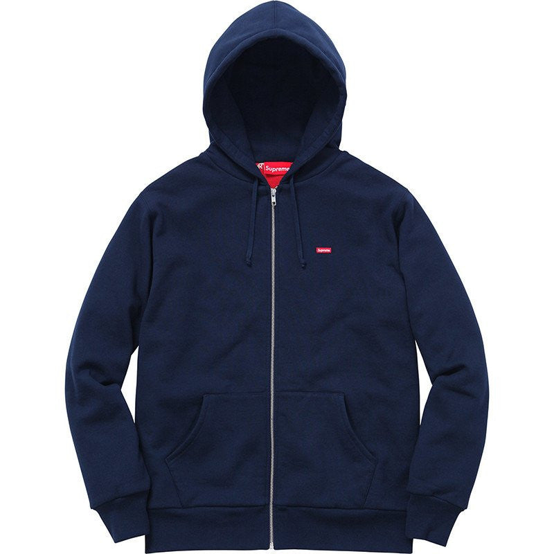 Supreme Small Box Logo Zip Up Hoodie Navy