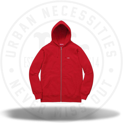 Supreme Small Box Zip Up Sweatshirt Red FW17-Urban Necessities