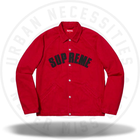 Supreme Snap Front Twill Jacket Red-Urban Necessities