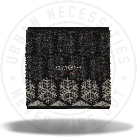 Supreme Snowflake Neck Gaiter Black-Urban Necessities
