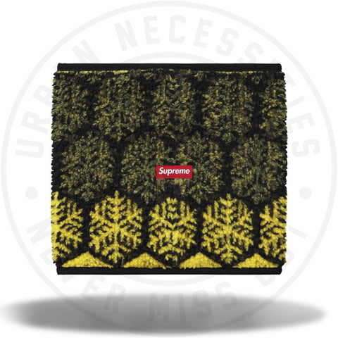 Supreme Snowflake Neck Gaiter Yellow-Urban Necessities