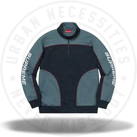 Supreme Speedway Half Zip Sweatshirt Navy/Dark Teal-Urban Necessities