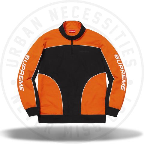 Supreme Speedway Half Zip Sweatshirt Orange FW18-Urban Necessities