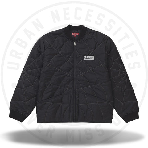 Supreme Spider Web Quilted Work Jacket Black-Urban Necessities