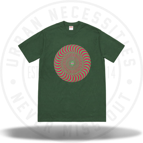 Supreme Spitfire Classic Swirl T-Shirt Dark Green-Urban Necessities