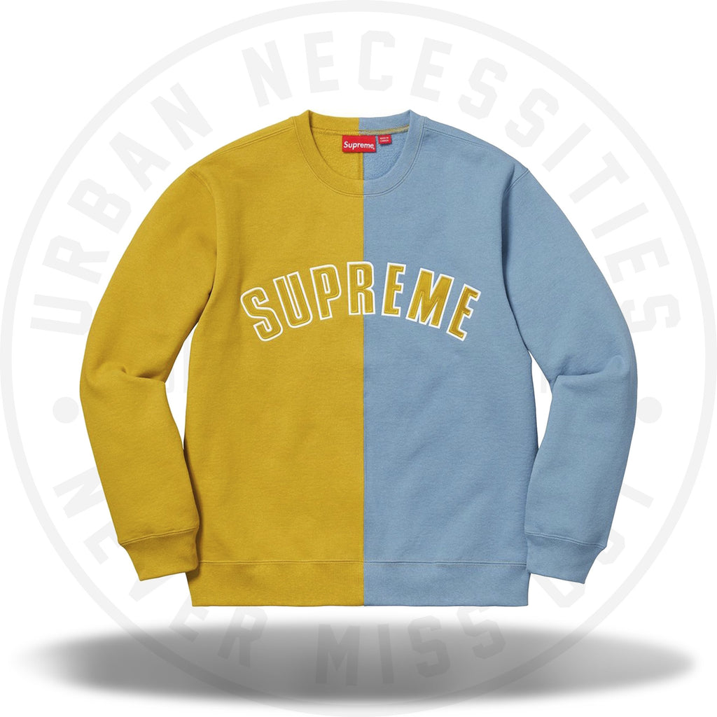 Supreme Split Crewneck Sweatshirt Mustard-Urban Necessities