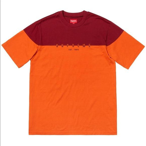Supreme Split Logo S/S Top Orange-Urban Necessities