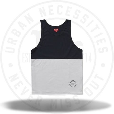 Supreme Split Tank Top Navy-Urban Necessities