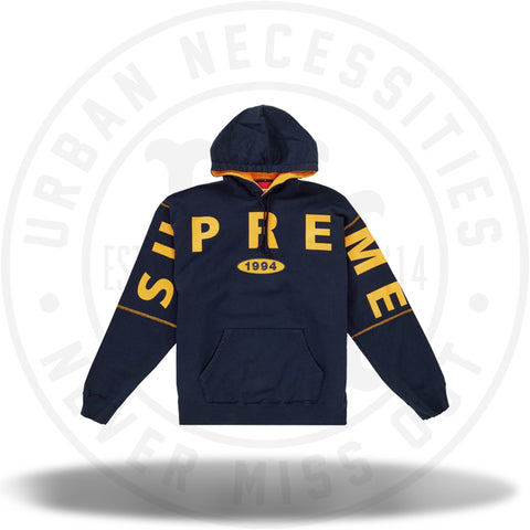 Supreme Spread Logo Hooded Sweatshirt Navy-Urban Necessities