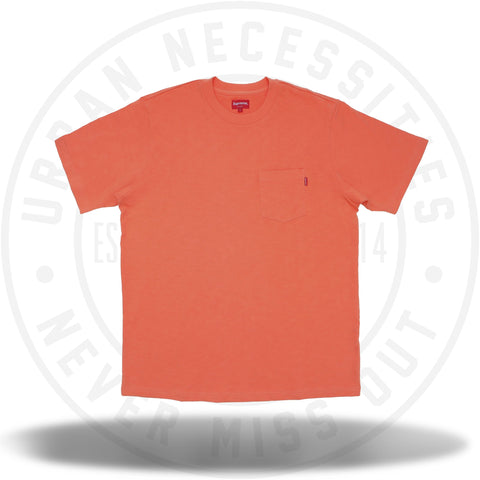 Supreme SS Pocket Tee (FW18) Coral-Urban Necessities