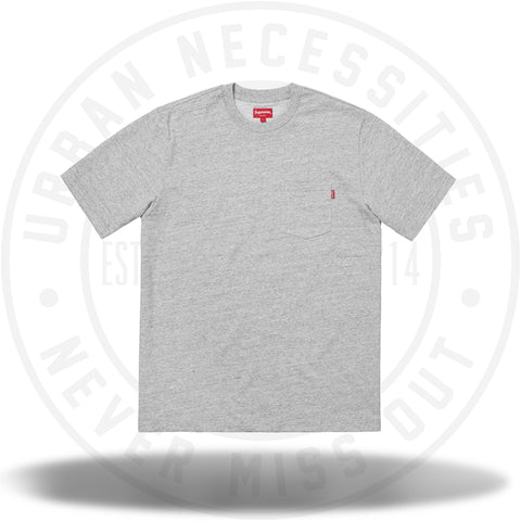 Supreme SS Pocket Tee (FW18) Heather Grey-Urban Necessities