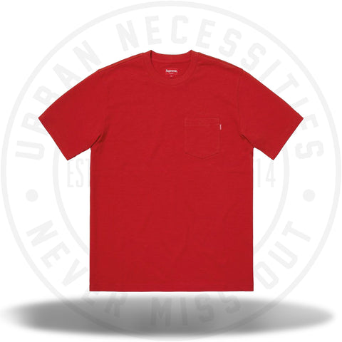 Supreme SS Pocket Tee (FW18) Red-Urban Necessities