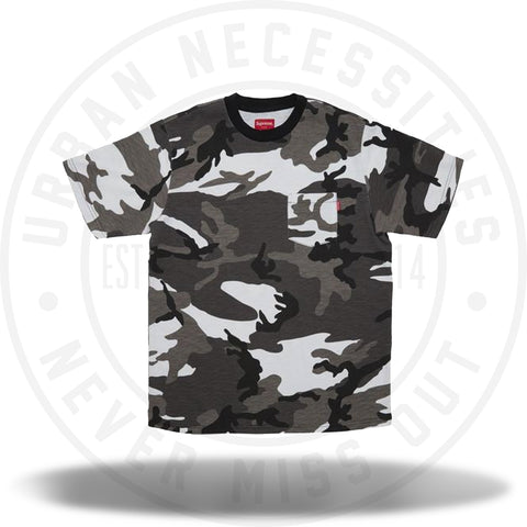 Supreme SS Pocket Tee (FW18) Snow Camo-Urban Necessities