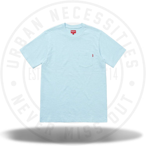 Supreme SS Pocket Tee (SS18) Light Blue-Urban Necessities