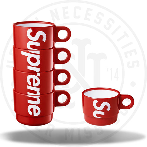 Supreme Stacking Cups (Set of 4) Red-Urban Necessities