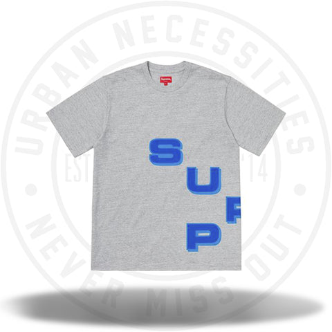 Supreme Stagger Tee Heather Grey-Urban Necessities