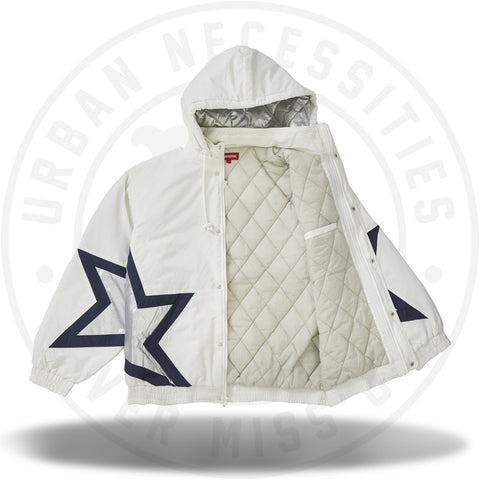 Supreme Stars Puffy Jacket White-Urban Necessities