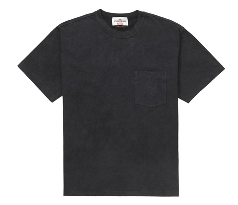 Supreme Stone Island Pocket Tee Black-Urban Necessities