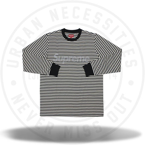 Supreme Striped L/S Top Black-Urban Necessities