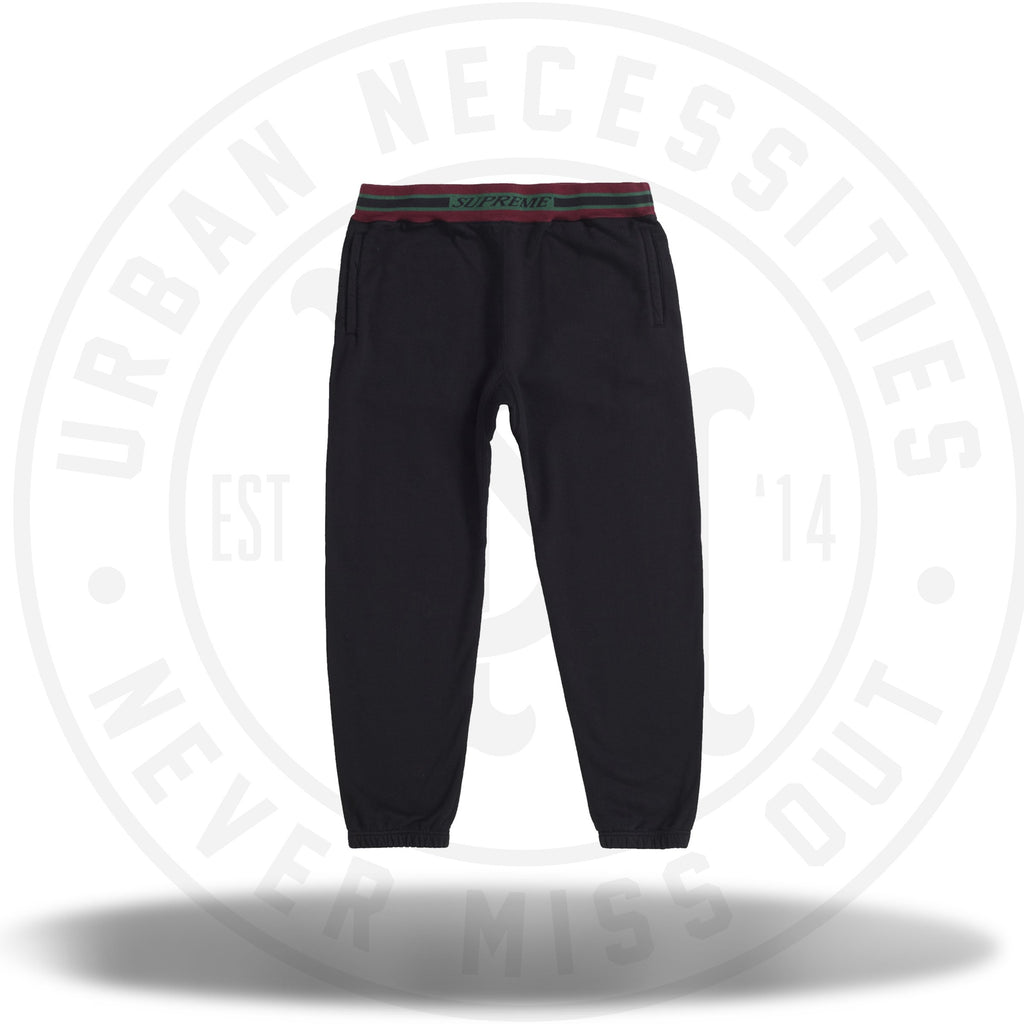 Supreme Striped Rib Sweatpant Black-Urban Necessities