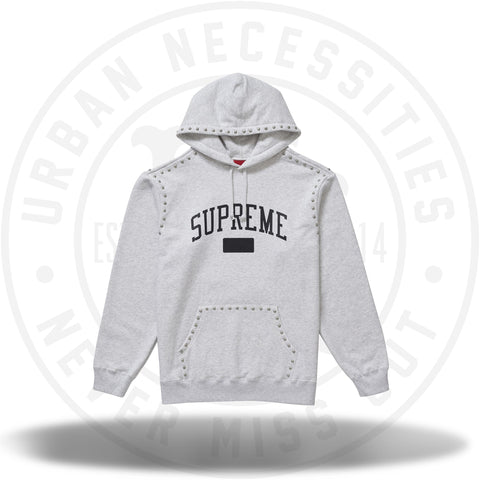 Supreme Studded Hooded Sweatshirt (FW18) Ash Grey-Urban Necessities