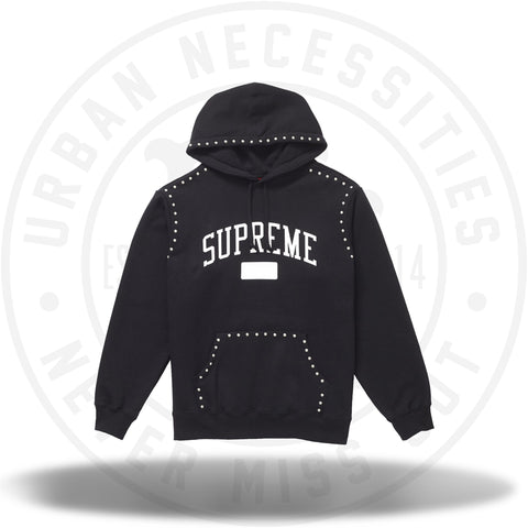 Supreme Studded Hooded Sweatshirt (FW18) Black-Urban Necessities
