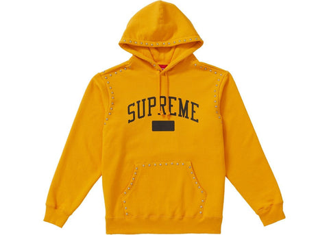 Supreme Studded Hooded Sweatshirt (FW18) Gold-Urban Necessities