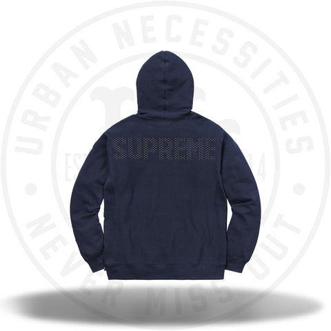 Supreme Studded Hooded Sweatshirt Navy-Urban Necessities