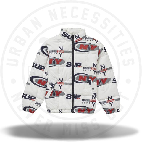 Supreme Supreme NY Reversible Puffy Jacket White-Urban Necessities