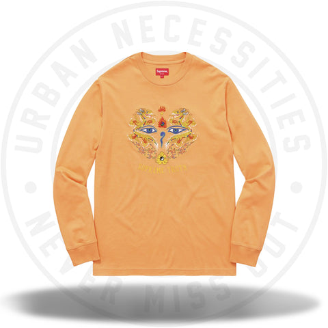 Supreme Supreme Truth Long Sleeve Tee Light Orange-Urban Necessities