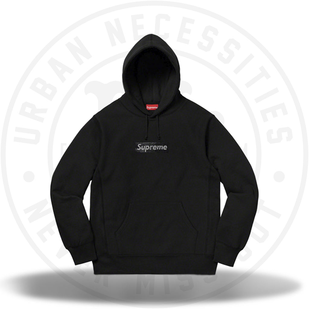 Supreme Swarovski Box Logo Hooded Sweatshirt Black-Urban Necessities