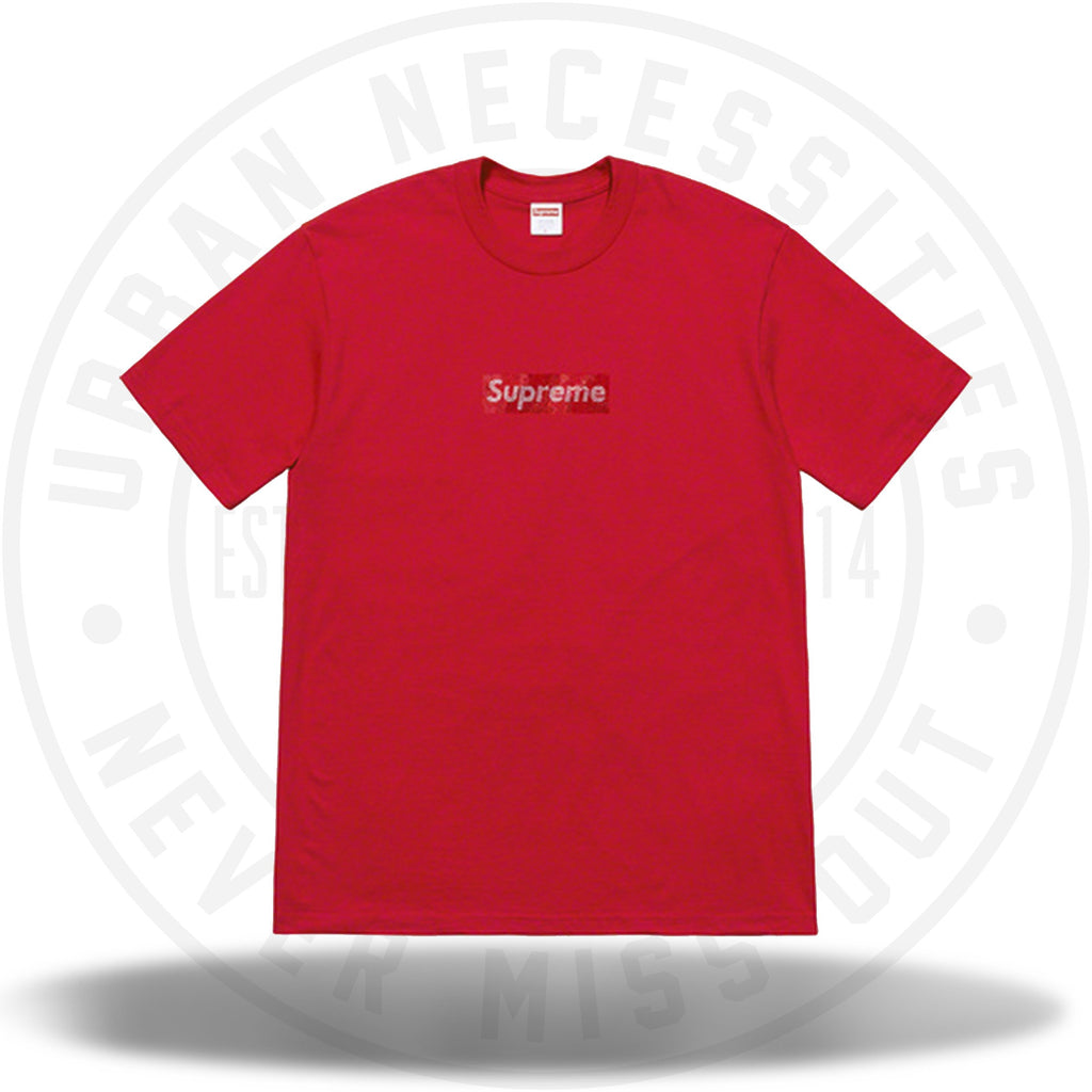 Supreme Swarovski Box Logo Tee Red-Urban Necessities
