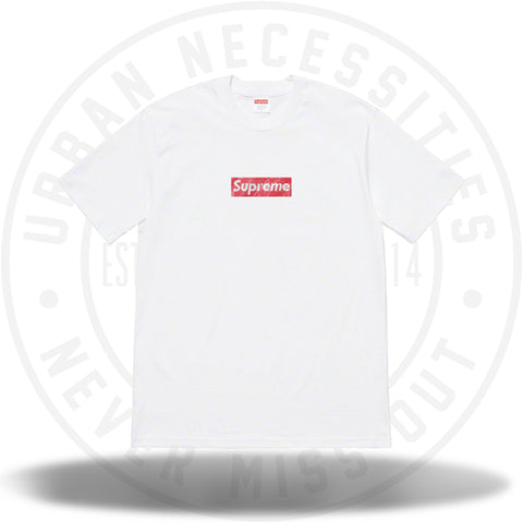 Supreme Swarovski Box Logo Tee White-Urban Necessities