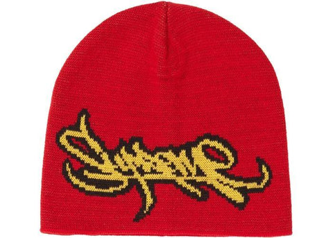Supreme Tag Logo Beanie Red-Urban Necessities