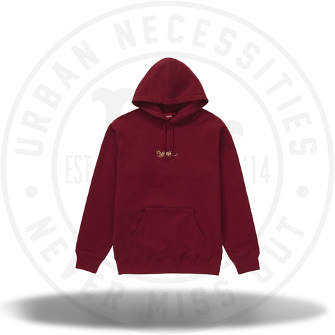 Supreme Tag Logo Hooded Sweatshirt - Cardinal-Urban Necessities
