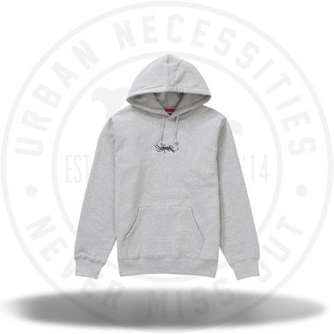 Supreme Tag Logo Hooded Sweatshirt - Heather Grey-Urban Necessities