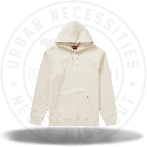 Supreme Tag Logo Hooded Sweatshirt - Natural-Urban Necessities