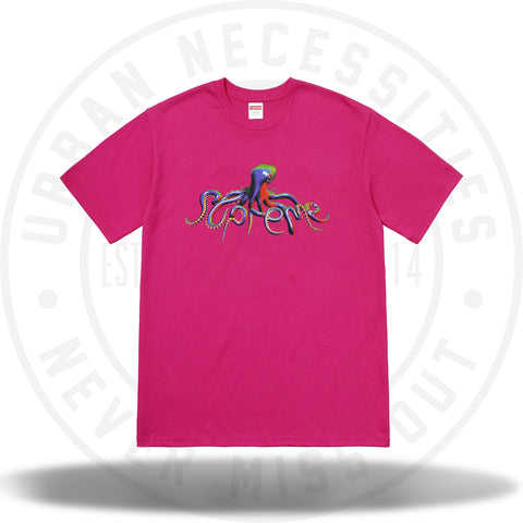 Supreme Tentacles Tee Hot Pink-Urban Necessities