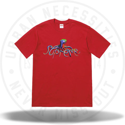 Supreme Tentacles Tee Red-Urban Necessities
