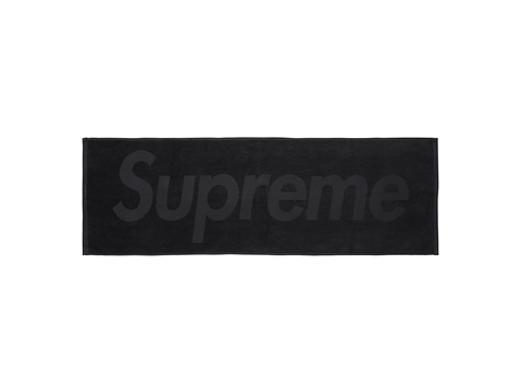 Supreme Terry Logo Hand Towel Black-Urban Necessities