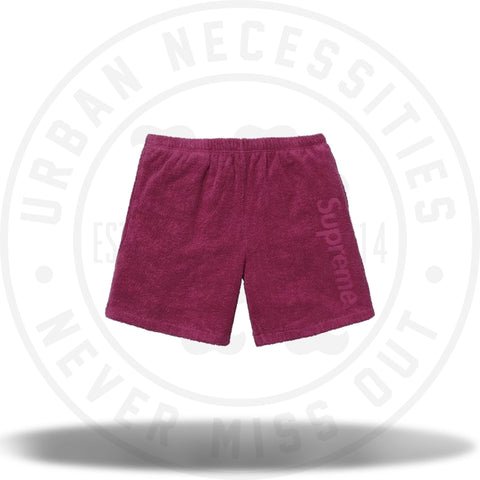 Supreme Terry Logo Short Dark Rose-Urban Necessities