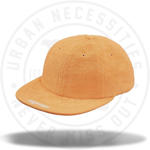 Supreme Terry Visor Logo 6-Panel Peach-Urban Necessities