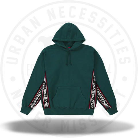 Supreme Text Rib Hooded Sweatshirt Dark Green-Urban Necessities