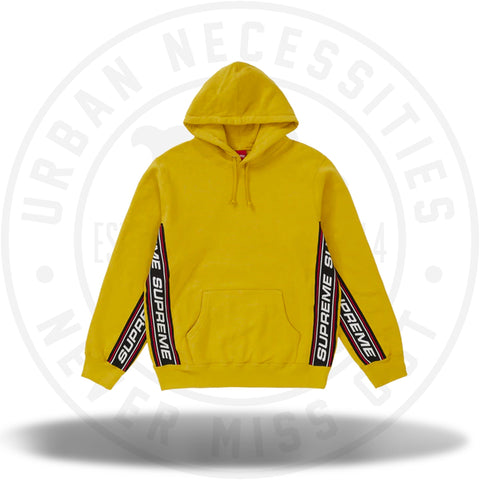 Supreme Text Rib Hooded Sweatshirt Mustard-Urban Necessities