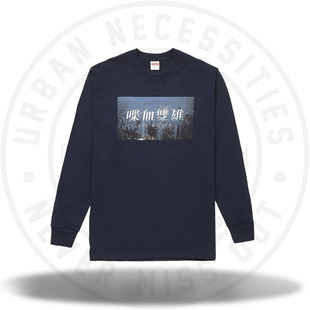 Supreme The Killer L/S Tee Navy-Urban Necessities