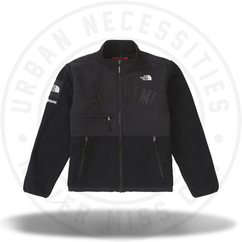 Supreme The North Face Arc Logo Denali Fleece Jacket - Black-Urban Necessities